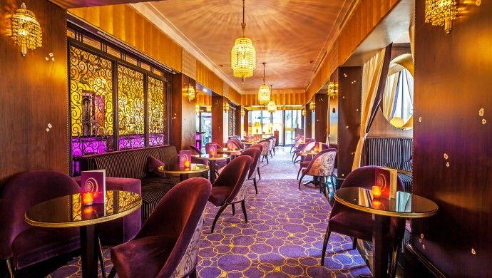 Purple Bar in the Hotel Du Collectionneur, Paris.