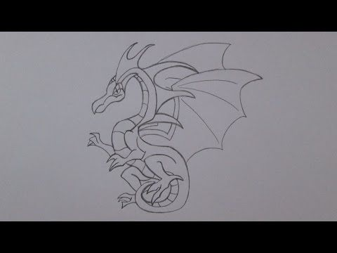 Como desenhar um dragão voador - YouTube