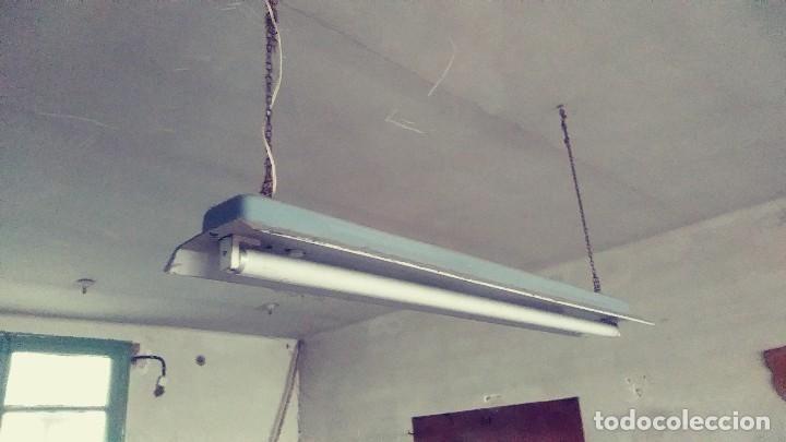 Plafond Industrial De Hierro Para Fluorescente O Led Vintage Lamparas Apliques Candelabros Y Faroles Hierro Antiguo Industrial Led