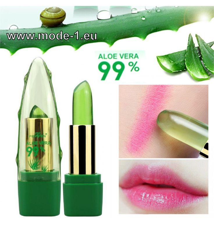 Feuchtigkeitsspendender Lippenstift – Farbe mit Temperaturänderung 99% ALOE VERA – BEAUTY