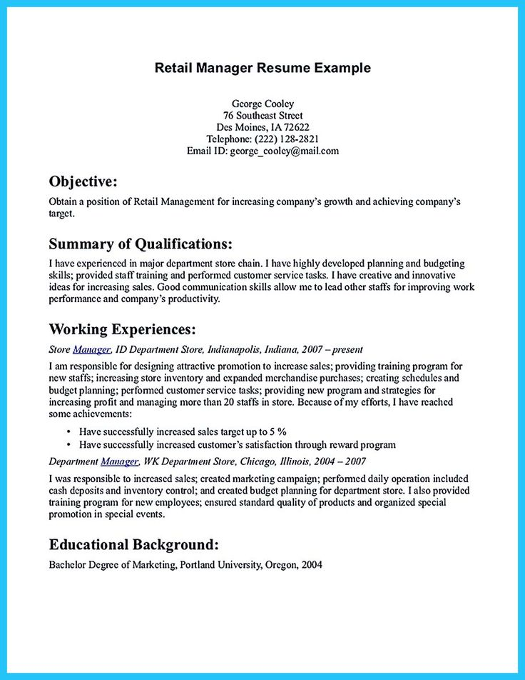 examples of what to write in resumes objective
