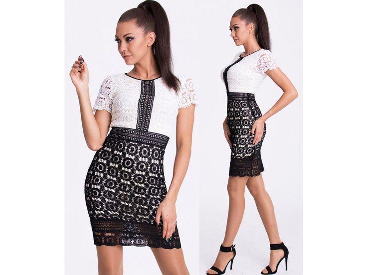 Lace designer dress EMAMODA PARIS in stock - znackova kolekce satu EMAMODA PARIS - krajkove, spolecenske saty