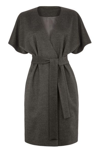 Manteau sans manche en laine gris, Oasis