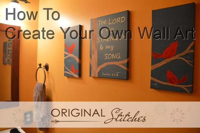 Original Stitches: DIY Wall Art With Lettering