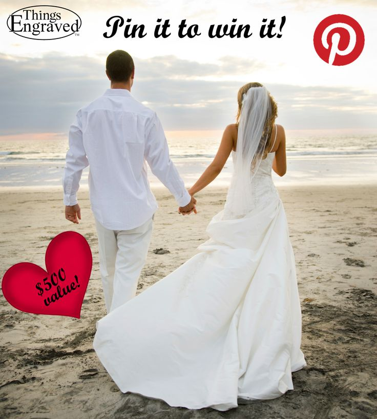 """Create a board on Pinterest named """"Things Engraved Wedding Gifts"""" and pin at least 20 wedding related gifts from www.thingsengraved.ca for your chance to win up to $500 worth of gifts & engraving services from Things Engraved! Winner will be randomly selected Feb 17th, 2014. (Contest Rules: http://blog.thingsengraved.ca/pinterest/) #contest #wedding"""