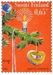 Joulupostimerkki 2004 2/2 - Kuusenkoristeet
