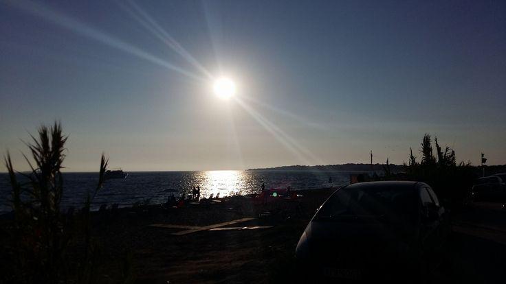 When the sun goes down.. at Agios Georgios-Argirades, Corfu! #corfu #corfuSightseeing #citySightseeingCorfu #sunset