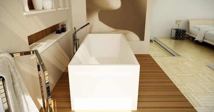 PLATINUM bathtub with internal round corners..