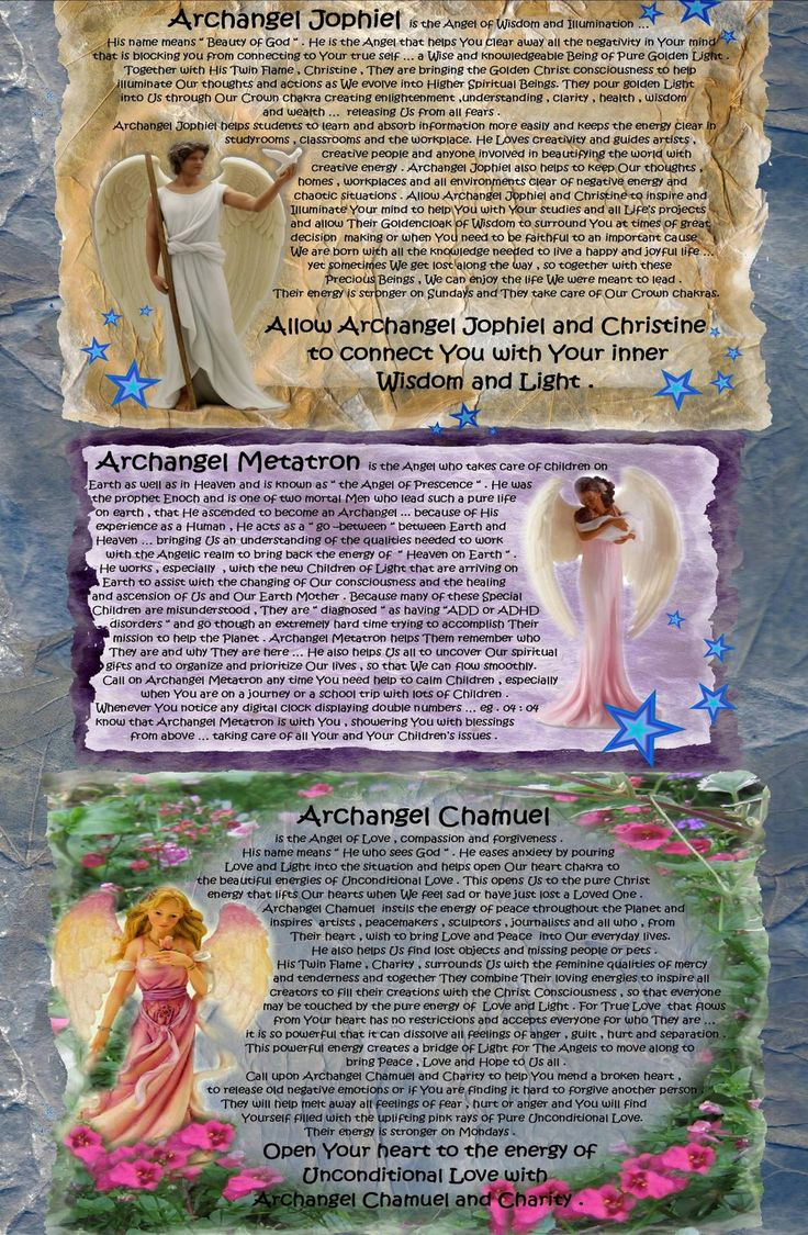 angel blessings: ARCHANGELS JOPHIEL , METATRON AND CHAMUEL