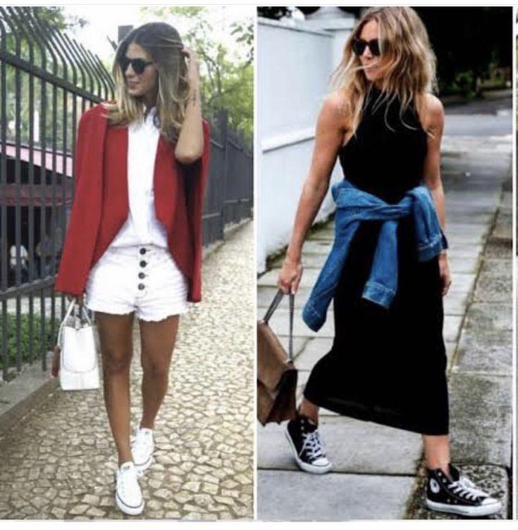 Pin de Nathalia Lima em Looks-Short & Tênis | Looks, Tenis