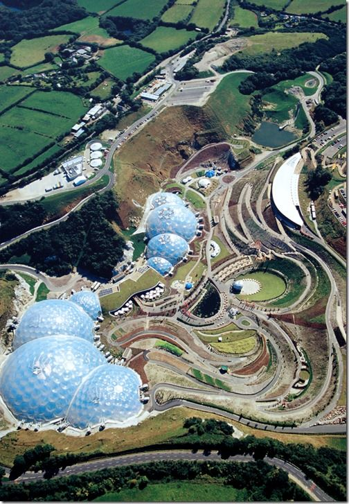 The Eden Project is one of the largest hidden gardens in the world. Most visited is the Rainforest Biome. It is 180 feet high, 328 feet wide and 656 feet long.