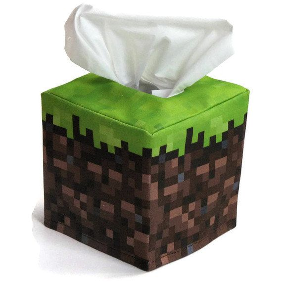Minecraft block tissue cover. As a person with allergies, I find this ironically, hilariously useful.