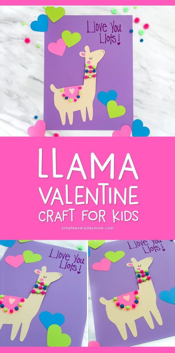 A Simple Cute Llama Valentine Craft For Kids With Free Printable Preschool Valentine Crafts Valentine Crafts For Kids Easy Valentine Crafts