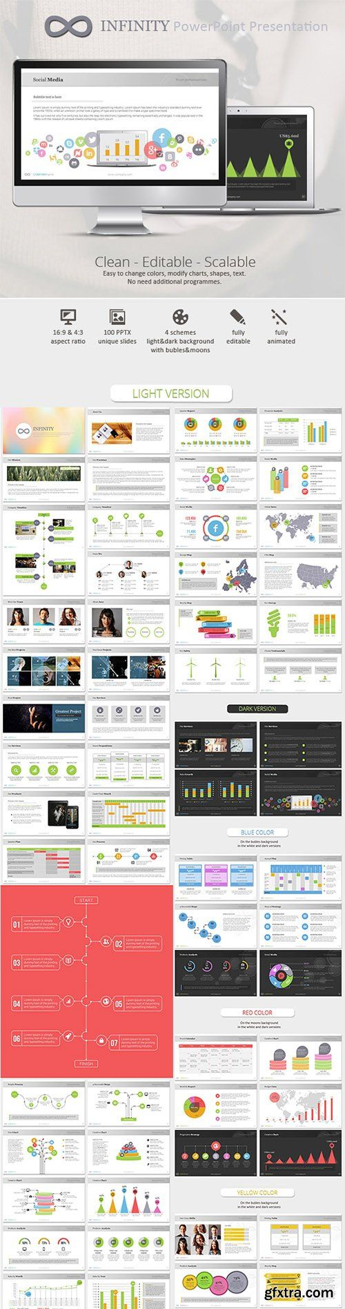 Infinity Colors PowerPoint Presentation Template - GraphicRiver 9101039