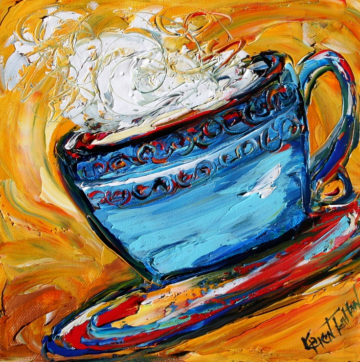 Coffee painting, perfect for kitchen