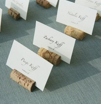 Wine #cork escort card holders...so easy to make! (Photo by Q Weddings)