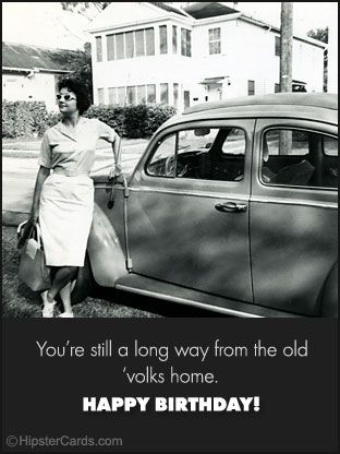 Hipster Cards  Free Ecard {Old Volks Home}  Free Online Ecard from Hipster Cards
