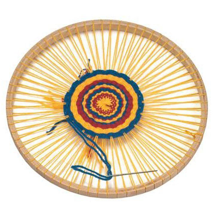 wooden circular weaving frame kids crafting