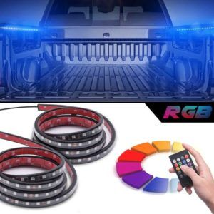 Get 60% off - Give you truck a more stylish attractive look with all new wonderful SMART RGB LED Truck Bed Lights w / Sound - activated Function, Wireless Remote , On /off Switch