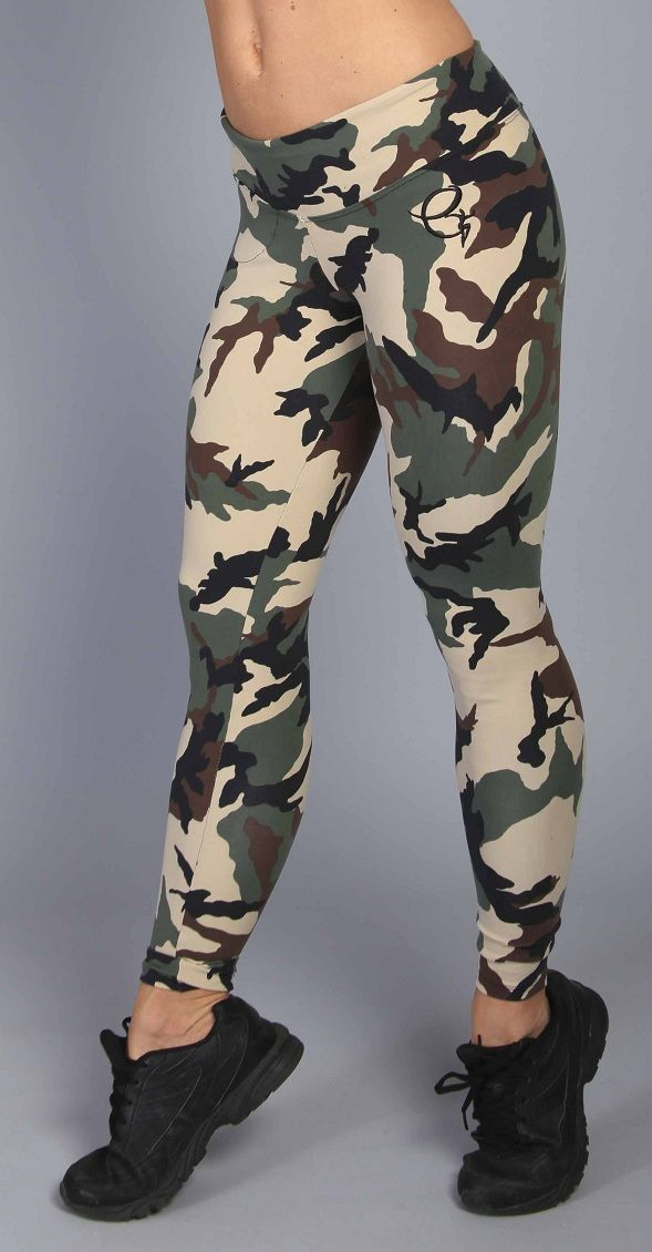 Camo Workout Clothes for Women | Equilibrium Activewear L720 Women Sexy Camo Workout Clothing