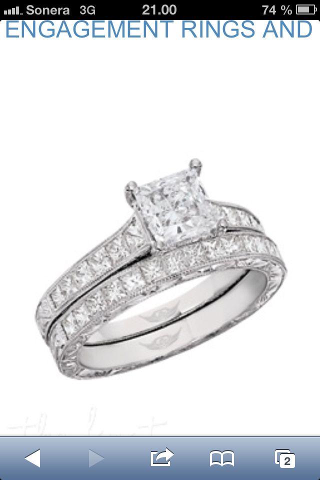 FlyerfItR By Martin Flyer Vintage Channel Platinum Hand Engraved Engagement Ring 12 G H FlyerfitR Wedding Band