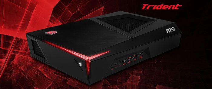 Trident, le PC gaming compatible VR le plus petit au monde - Le Trident intègre une carte graphique MSI GeForce GTX 1060 sur mesure et un processeur Intel Core dernière génération qui lui assurent une puissance de jeu impressionnante.