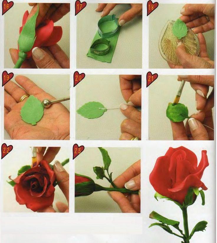 Clay Flowers Tutorials: 141 Best Images About Flower Tutorials On Pinterest