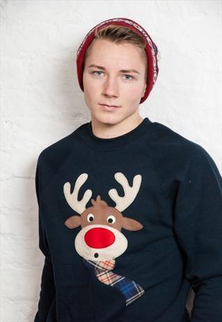 Men's Novelty Reindeer Christmas Jumper