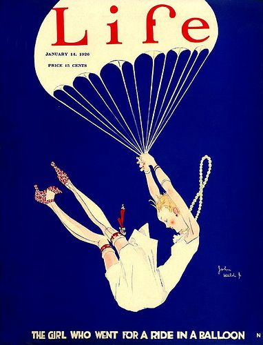 The Girl Who Went for a Ride In A Balloon: 1926 Life Magazine