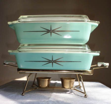 Starburst Pyrex. I'd love to know where, outside of eBay, etsy, antique malls and thrifts that people get these awesome rare pieces... Please divulge your secrets:)