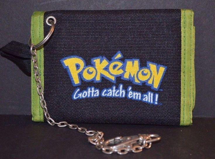 Pokemon Wallet Nintendo Licensed Product Tri-Fold Excellent Gotta Catch Em All #Nintendo