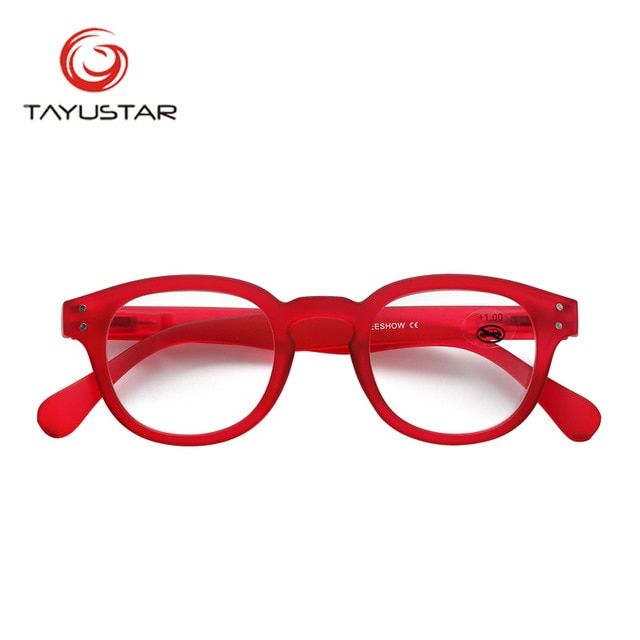 39aac6f31cd9 Reading Glasses Frame With Case Adult Glasses Oval Style Men Women Power  1.0-3.00 RED Eyeglasses Gafas Lunettes De Lecture 1513 Review