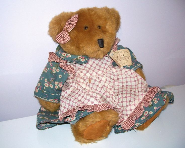 """Russ Mulberry Plush Teddy Bear 11"""" Bears From the Past MWT Stuffed Lovey Retired #Russ #AllOccasion"""