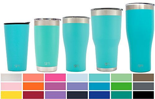 Simple Modern Pint 16oz Tumbler - Vacuum Insulated Travel Mug Splash Proof Cup - 16 ounce Double Wall Teal 18/8 Stainless Steel - Caribbean. For product & price info go to:  https://all4hiking.com/products/simple-modern-pint-16oz-tumbler-vacuum-insulated-travel-mug-splash-proof-cup-16-ounce-double-wall-teal-18-8-stainless-steel-caribbean/