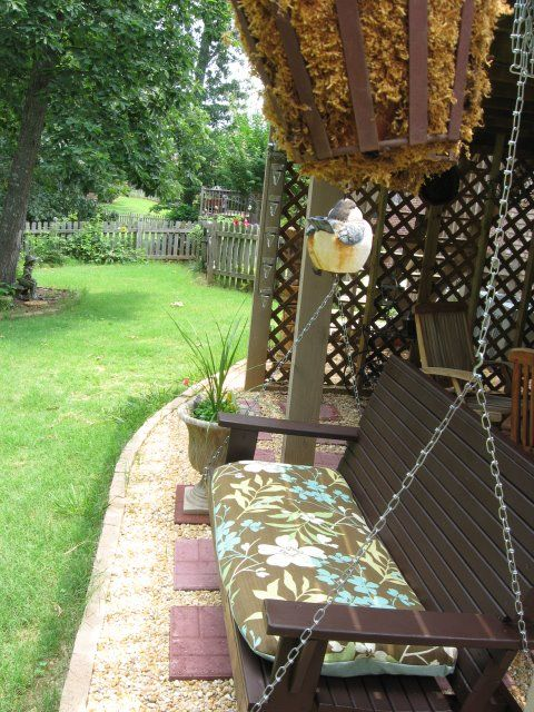 Patio Swing Goes With My Under Deck Patio!