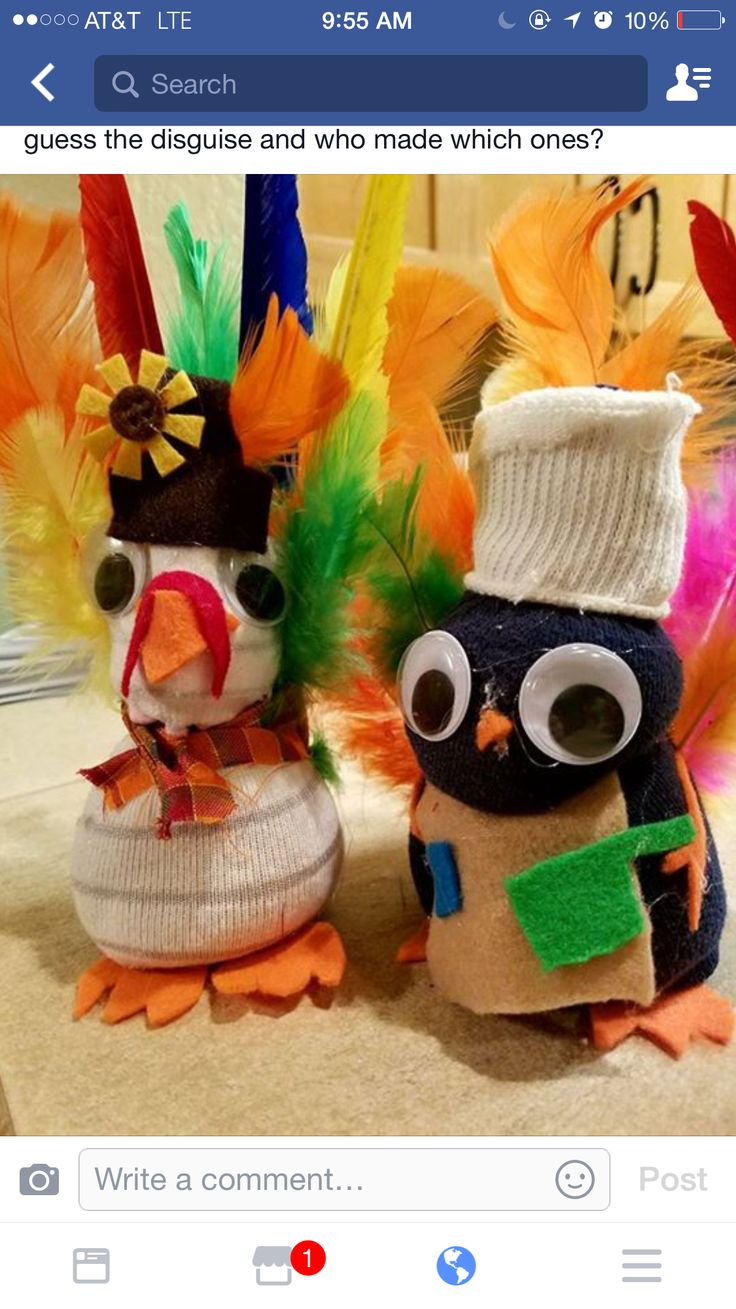 Socks filled with rice use pony tail holder to define head, seal with glue gun at bottom.
