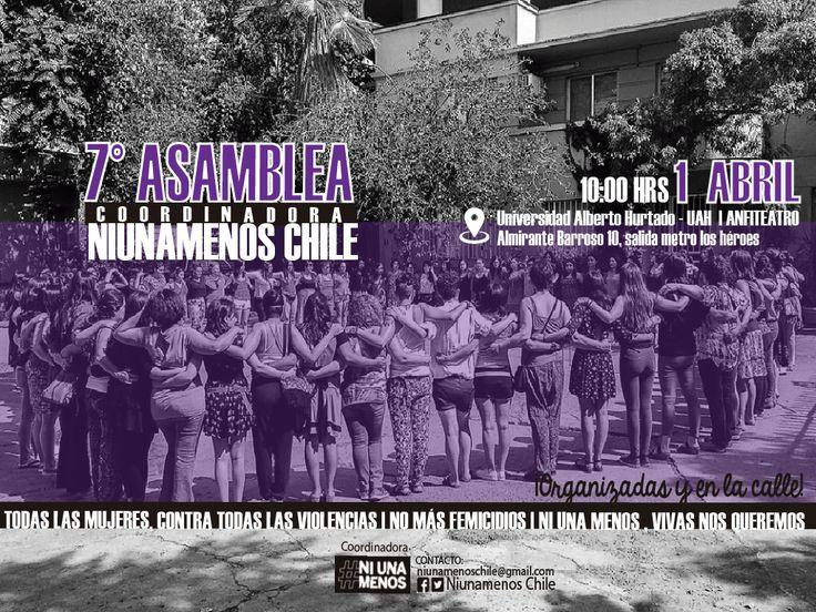 asamblea #niunamenos chile, en la capital de chile, mujeres organizadas y en la calle - autoria #kaleidoscopio | Assembly #niunamenos chile, in the capital of chile, women organized and in the street - authorship #kaleidoscopio feminist