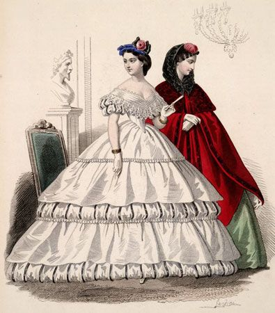 In the Swan's Shadow  Corriere delle Dame, 1862.  National Museum of Scotland.  Civil War Era Fashion Plate