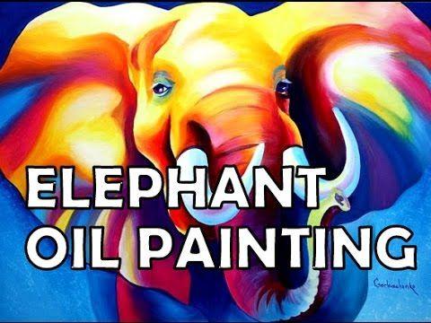 Elephant Oil Painting.Слон.Живопись Маслом.Мои знаменитые слоны!!!