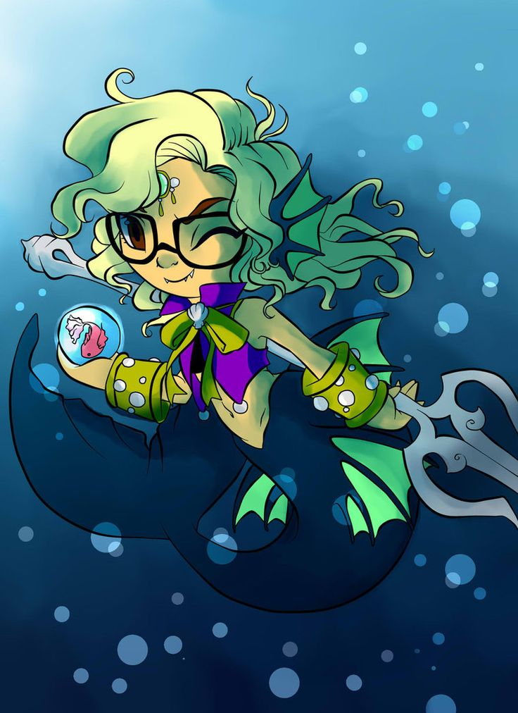 Pumpkin as a mermaid by Margaret-Lupin