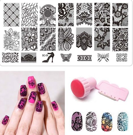 This might be of interest to you Nail Stamping Kit... . Go to our store and check it out http://www.bestmarketplacefinds.com/products/nail-art-clear-jelly-stamp-scraper-set
