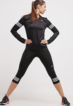 adidas Performance - RESPONSE - Tights - black/white