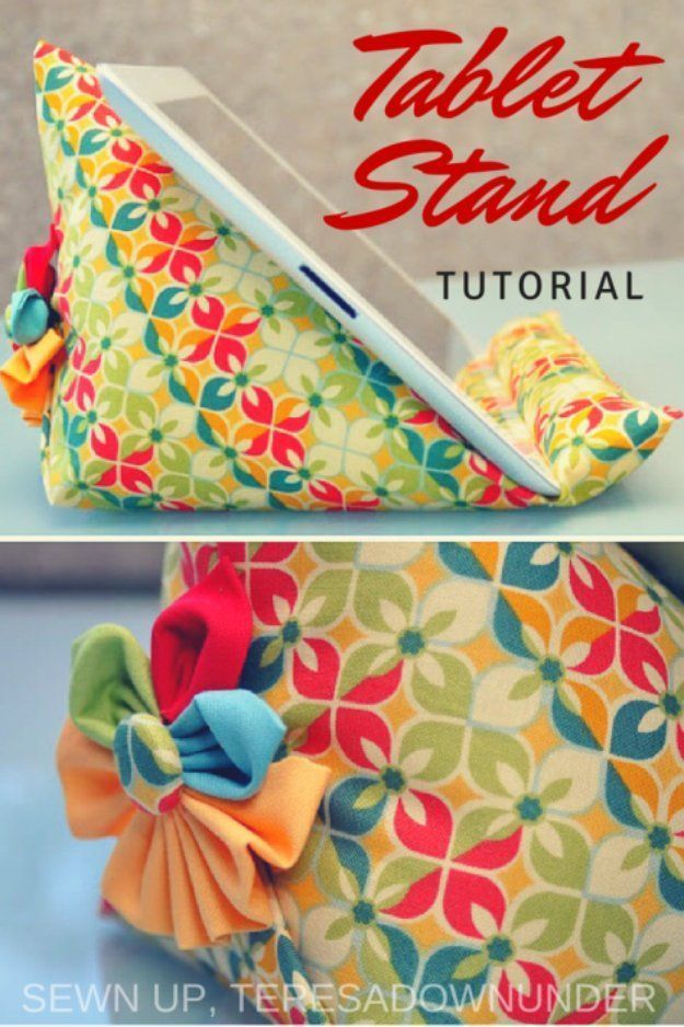 Simple Sewing Projects For Sale – Ipad Stand Tutorial – DIY Sewing Ideas For …   – DIY Genähtes