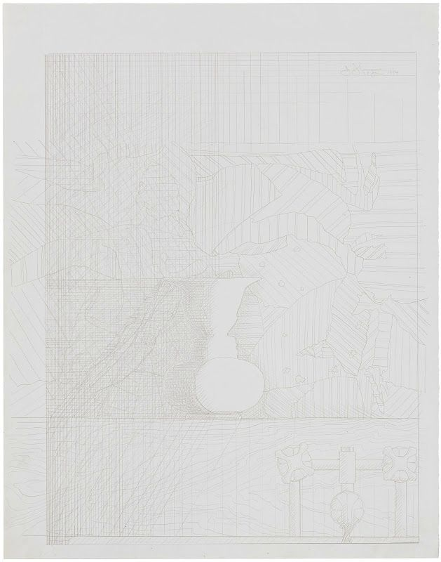 Jasper Johns, Untitled, 1984, silverpoint on white prepared paper