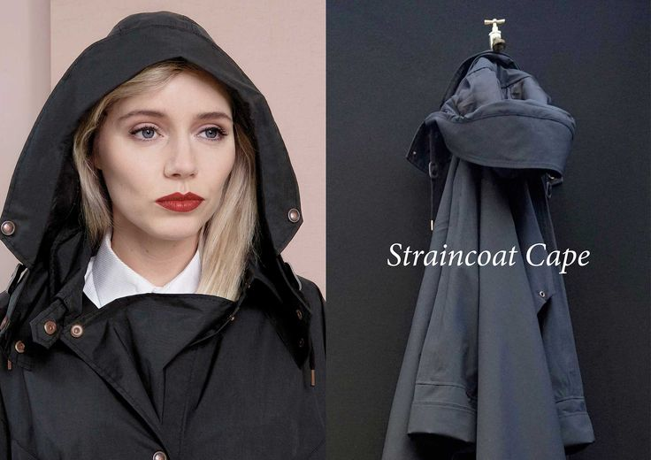 WATERDICHT Amsterdam  Straincoat Cape, stylish raincoat