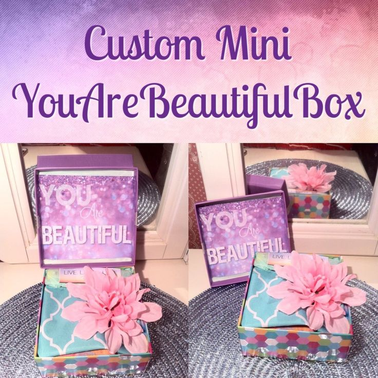 We are excited to introduce our new #mini #youarebeautifulbox #carepackage comes with a #scarf #mascara and a #makeupbag if you love #smallthings you'll love this #cute #box