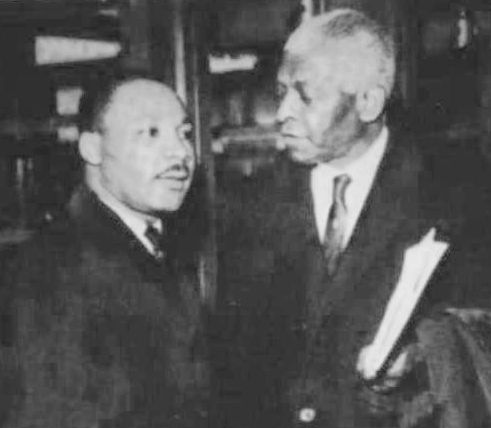 Benjamin E. Mays was a distinguished African American minister, educator, scholar, and social activist best known as the president of Morehouse College in Atlanta, Georgia from 1940 to 1967. Pictured with Dr. Martin Luther King, Jr.