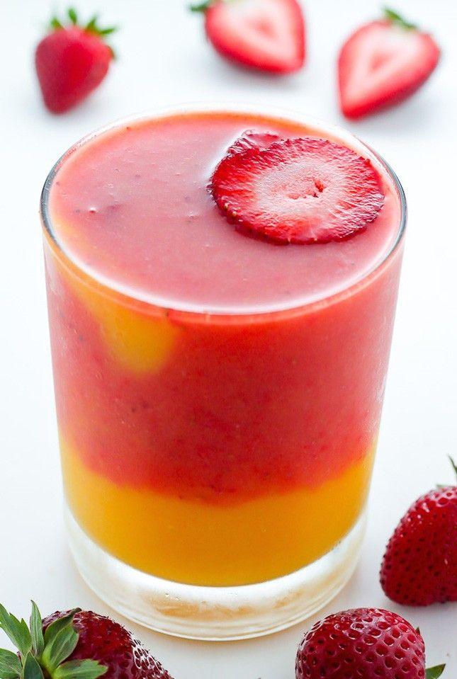 Strawberry Mango Smoothie.