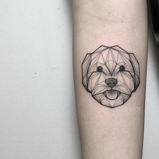 21 Science-Inspired Tattoos That Are Literally Out-Of-This-World | Geometric animal tattoo, Geometric dog tattoo, Geometric animals