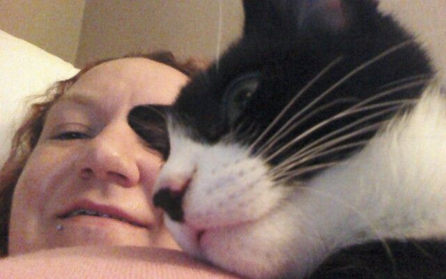 Jax having a cuddle